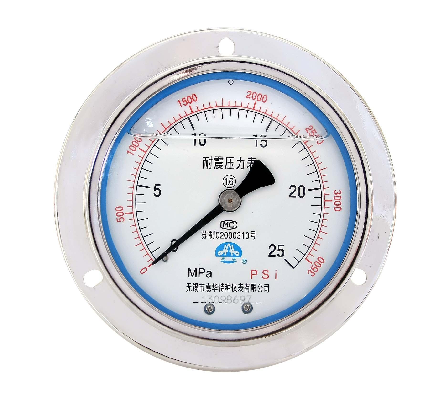 耐震壓力表 抗震壓力表 防震壓力表 充油壓力表 5