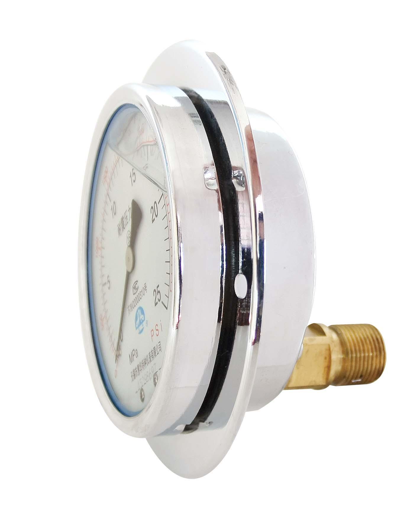 耐震壓力表 抗震壓力表 防震壓力表 充油壓力表 6
