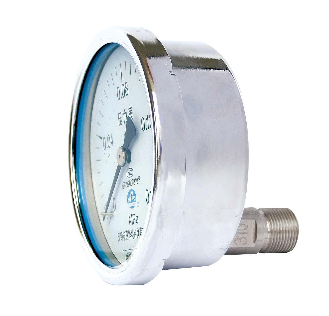 不锈钢压力表 不锈钢真空压力表 不锈钢弹簧管压力表 6