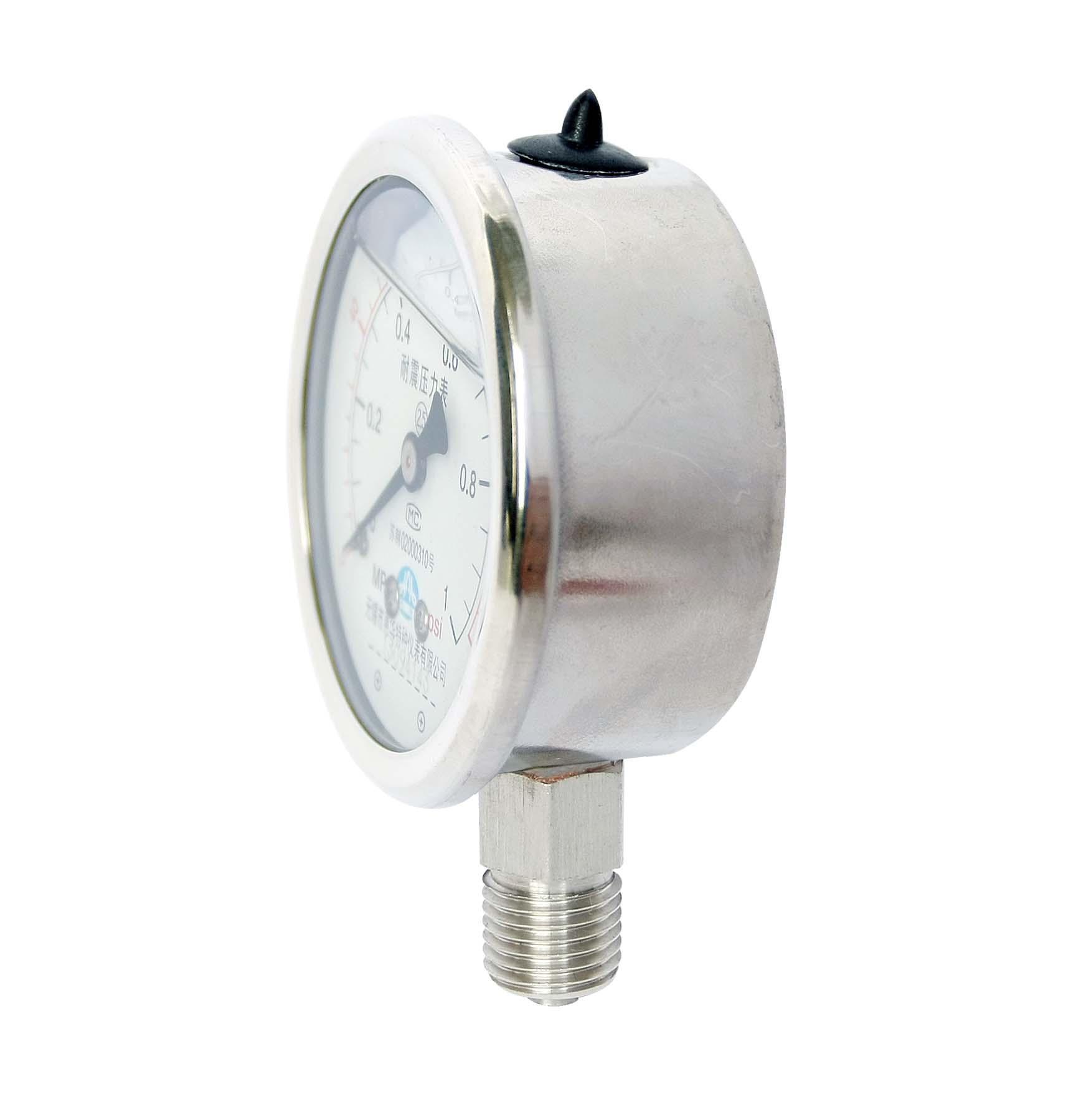 不鏽鋼耐震壓力表 耐震不鏽鋼壓力表 3