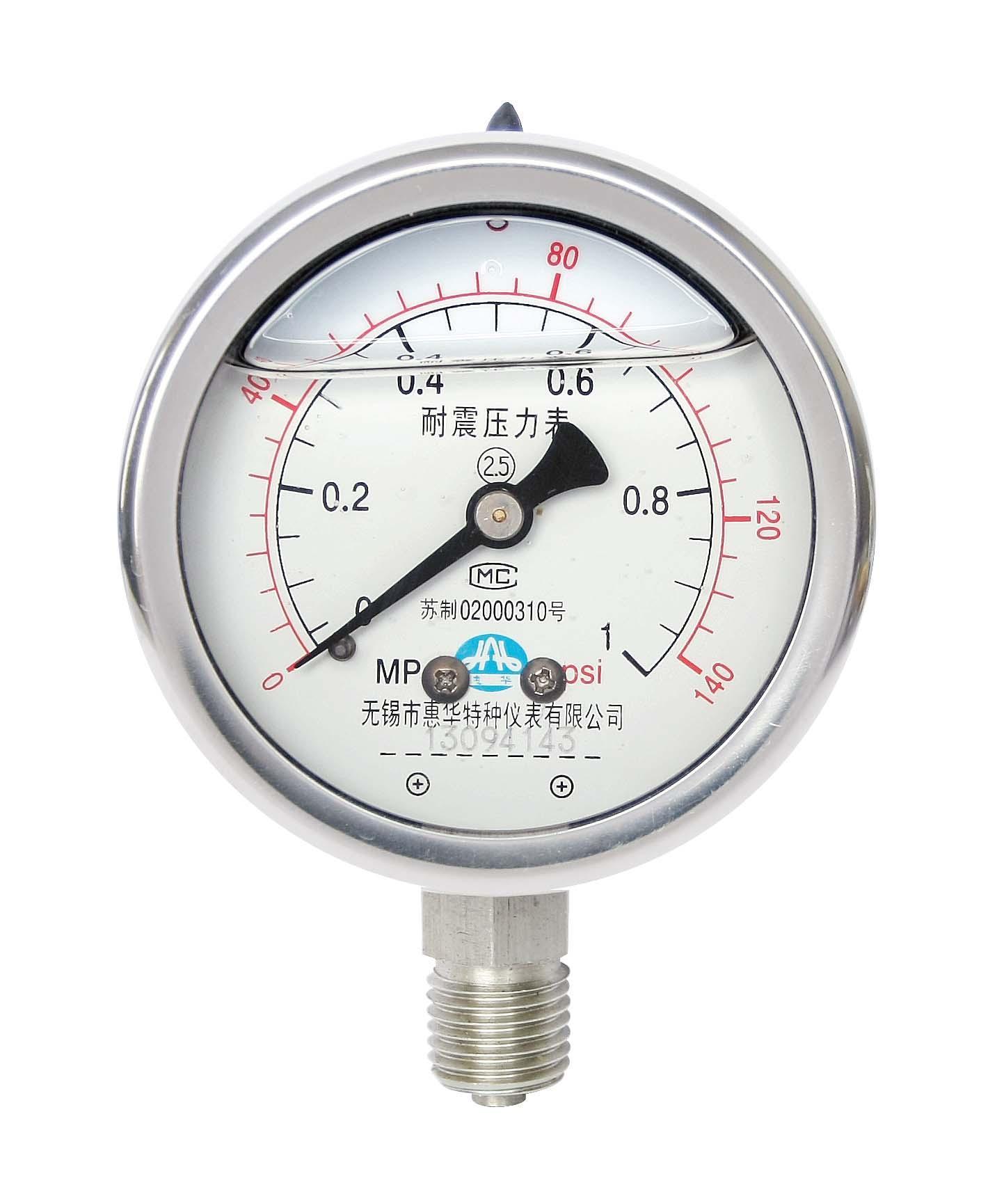 不鏽鋼耐震壓力表 耐震不鏽鋼壓力表 1