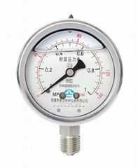 不锈钢耐震压力表 耐震不锈钢压