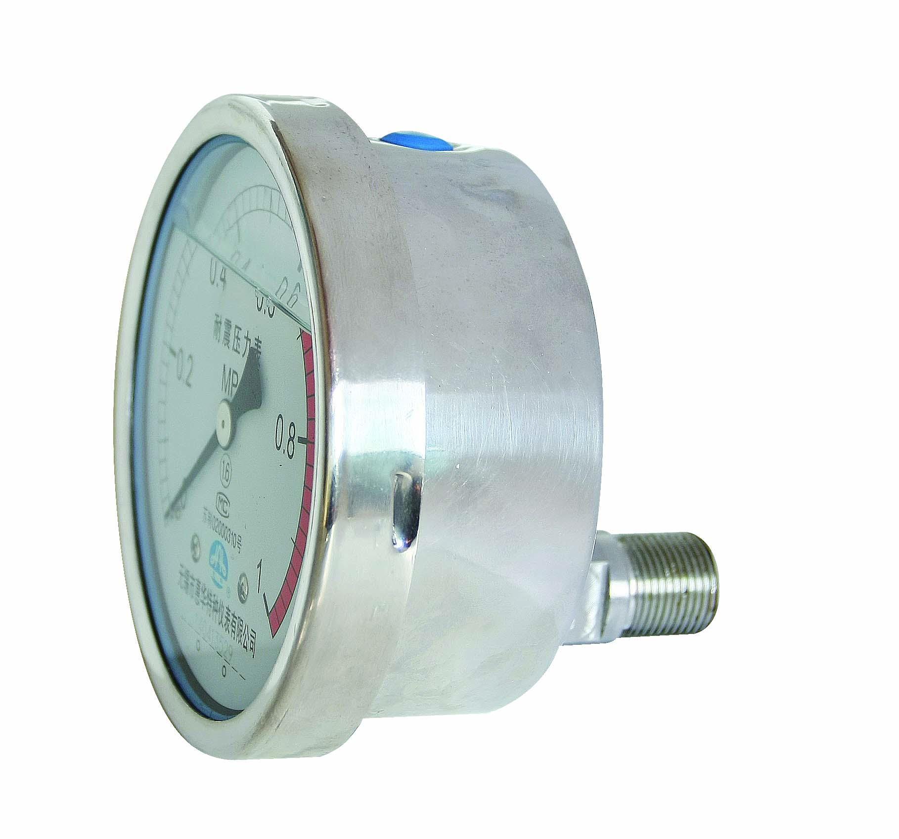 不鏽鋼耐震壓力表 耐震不鏽鋼壓力表 6