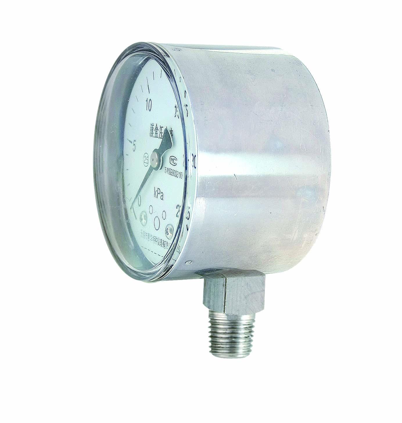 不鏽鋼膜盒壓力表 不鏽鋼微壓表 4