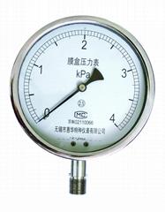不鏽鋼膜盒壓力表 不鏽鋼微壓表
