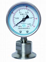 衛生型隔膜壓力表 卡箍式/螺母式/矩形法蘭式隔膜壓力表