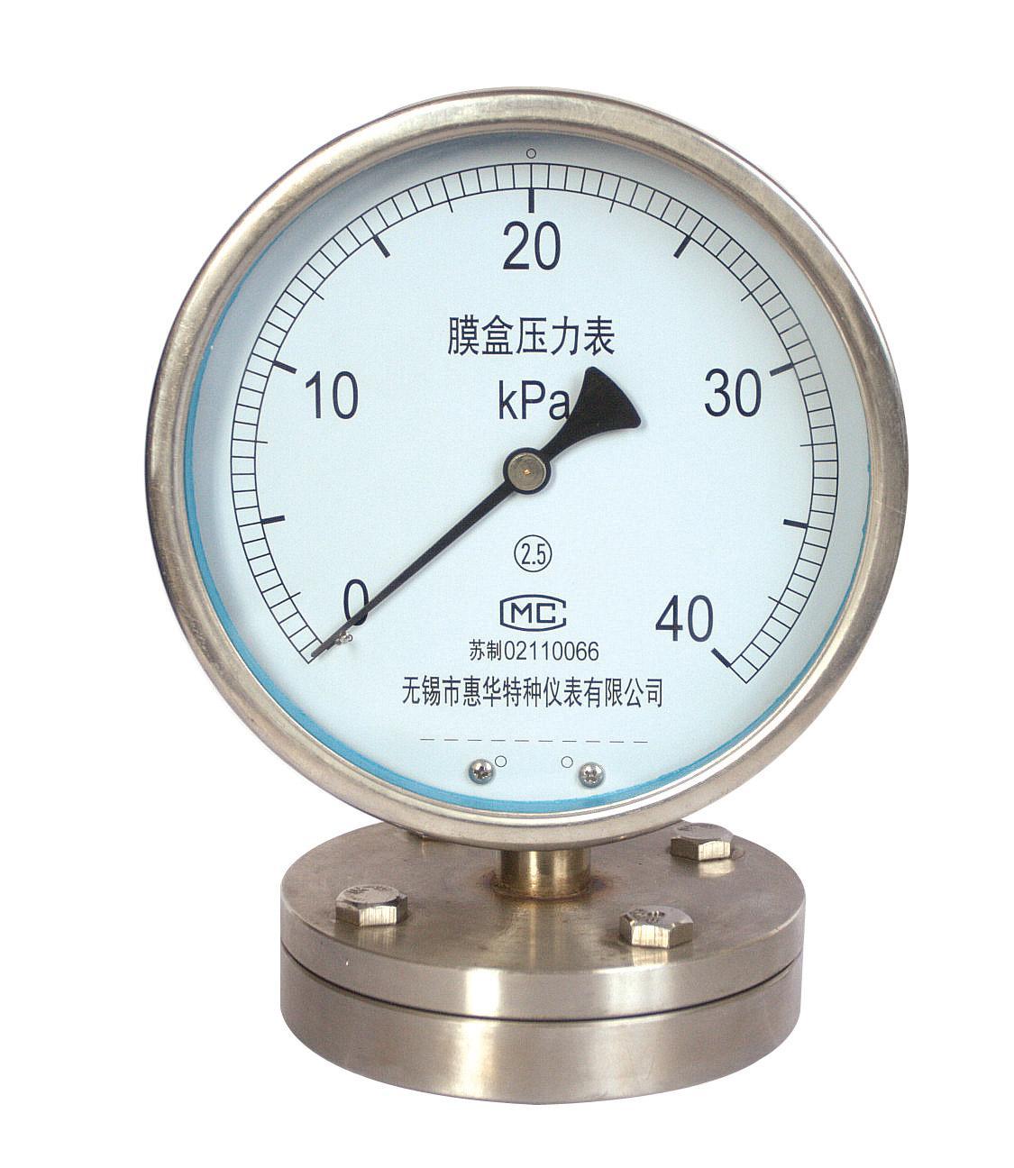 膜片壓力表 不鏽鋼膜片壓力表 1
