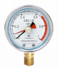 耐震留针压力表 耐震记忆压力表 耐震双针压力表