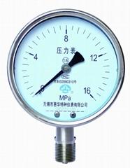 耐高溫壓力表 耐高溫不鏽鋼壓力表