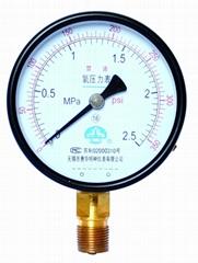 氧气压力表 氧压力表 氧气表