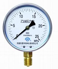 乙炔压力表 乙炔表