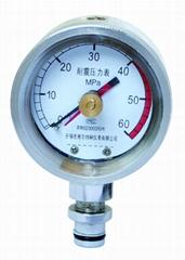 礦用雙針耐震壓力表 礦用雙針記憶壓力表 礦用留針耐震壓力表