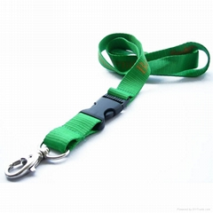 promotional polyester lanyard strap with custom logo