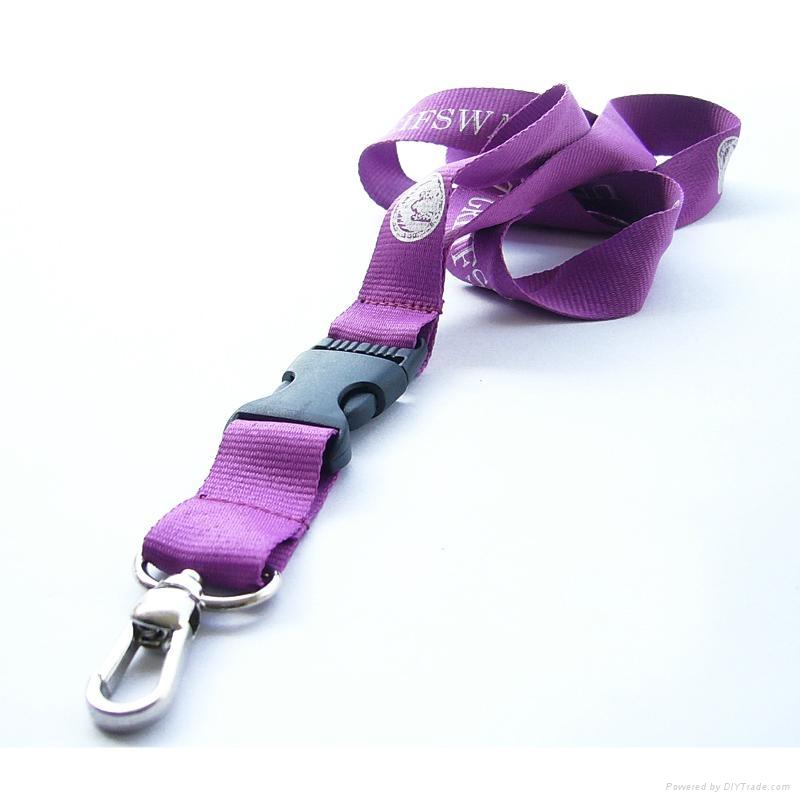 promotional polyester lanyard strap with custom logo 2