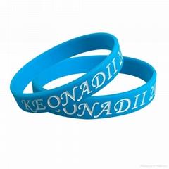 promotional custom printed logo silicone wristband