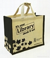 custom printed jute bags with various designs and colors for promotional purpose 2