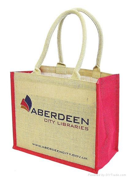 custom printed jute bags with various designs and colors for promotional purpose 4