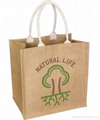custom printed jute bags with various