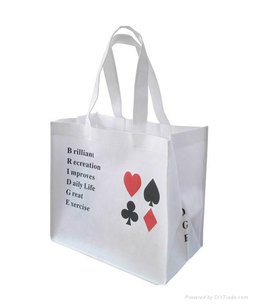Custom promotional nonwoven shopping bag with silk screen printing 2