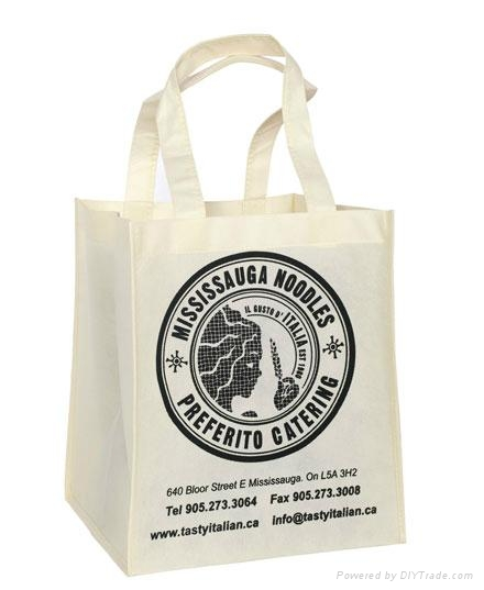 Custom promotional nonwoven shopping bag with silk screen printing 3