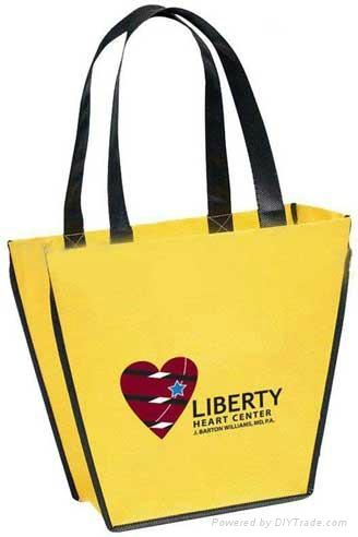 Custom promotional nonwoven shopping bag with silk screen printing 4