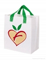 Custom promotional nonwoven shopping bag with silk screen printing 5