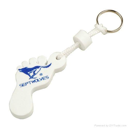 promotional EVA keychain with custom shape and logo 1