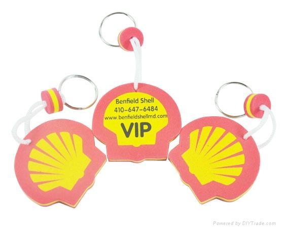 promotional EVA keychain with custom shape and logo 3