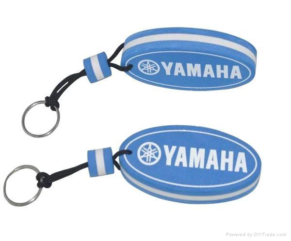 promotional EVA keychain with custom shape and logo 5