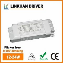 Flicker free LED driver 0-10V dimming 12-24W LKAD018D-C