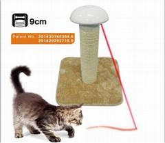 New Mid-Level  Laser Scratching Post Light Cat Tree