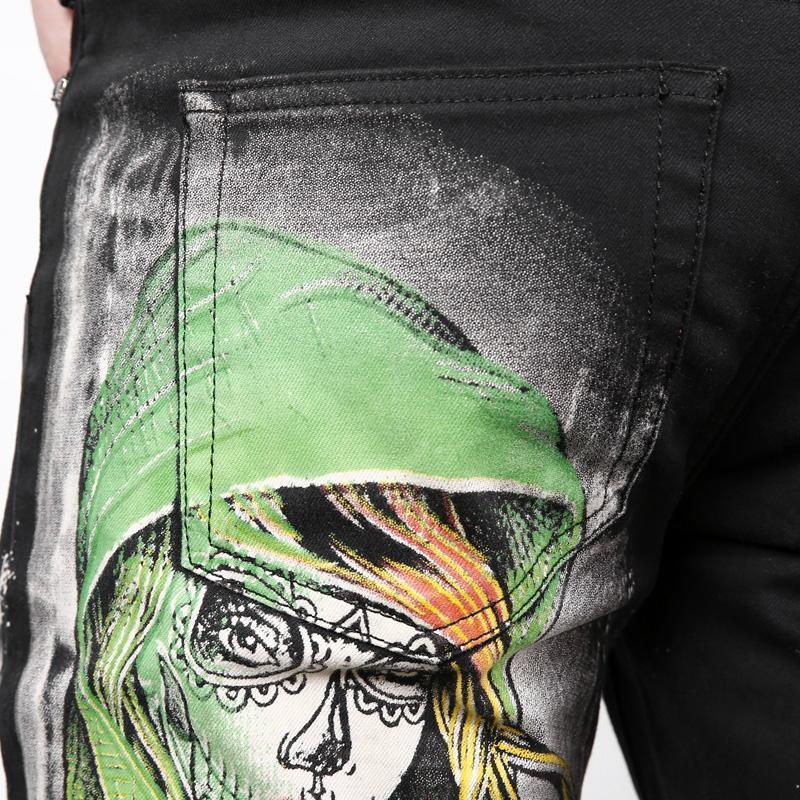2017 Manufacturer Custom New Style Printed Denim Jeans Mens Y026 -