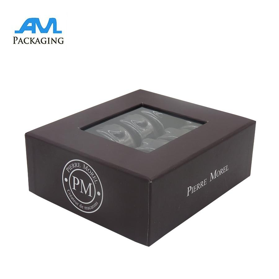 paper cardboard box printing with clear blisters macaroon packaging gifts  3