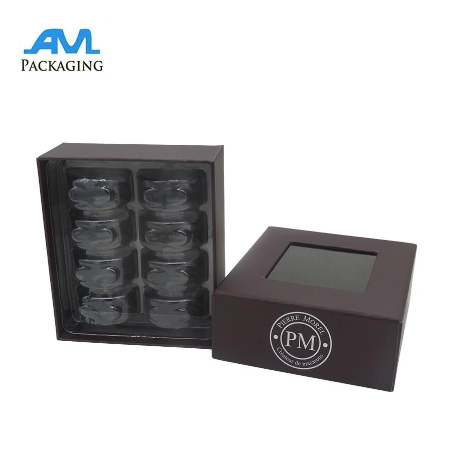 paper cardboard box printing with clear blisters macaroon packaging gifts  5