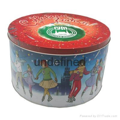 Christmas Round Tin Box 1