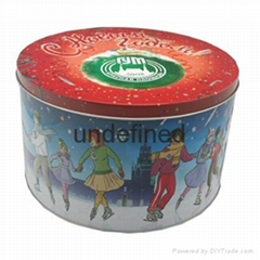 Christmas Round Tin Box