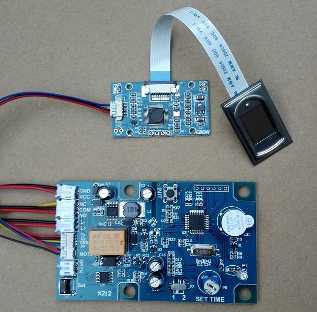 K212 指紋模塊控制器 指紋鎖電路板 指紋門禁 繼電器時間可調 5