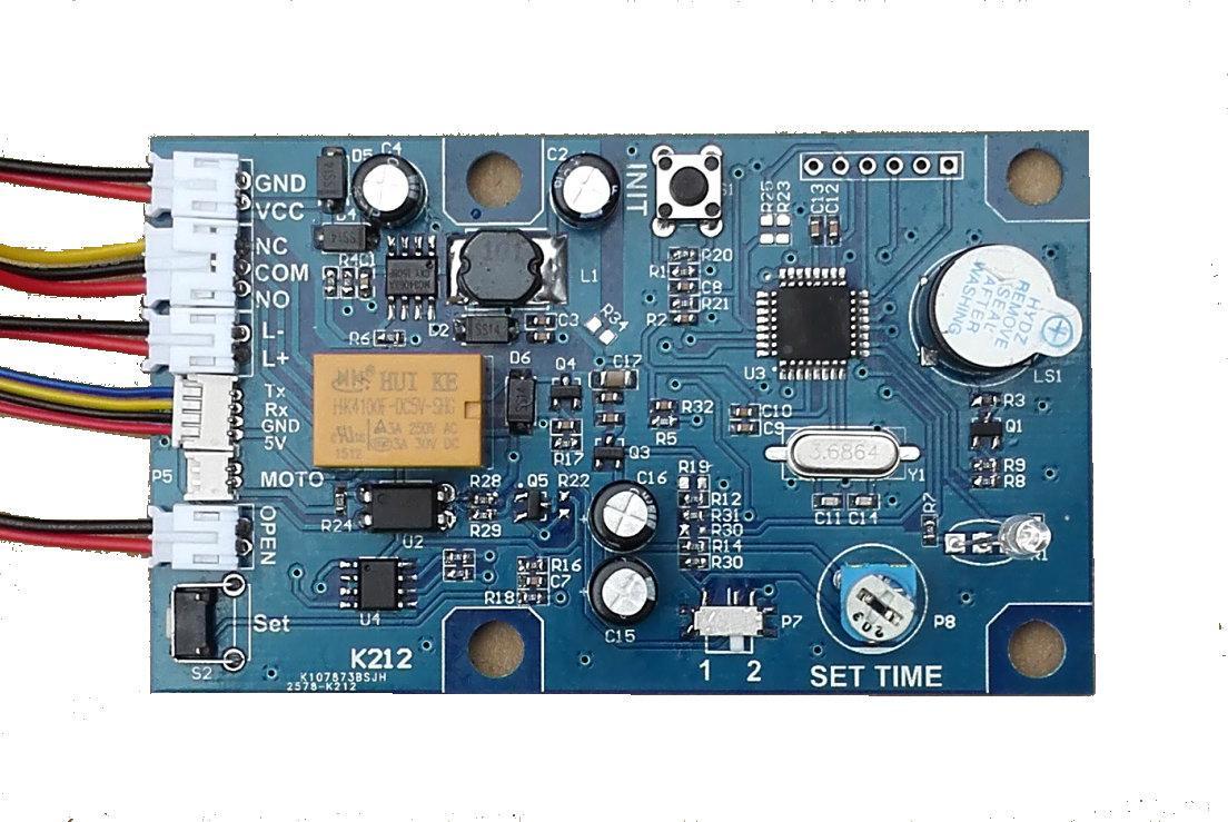 K212 指紋模塊控制器 指紋鎖電路板 指紋門禁 繼電器時間可調 1