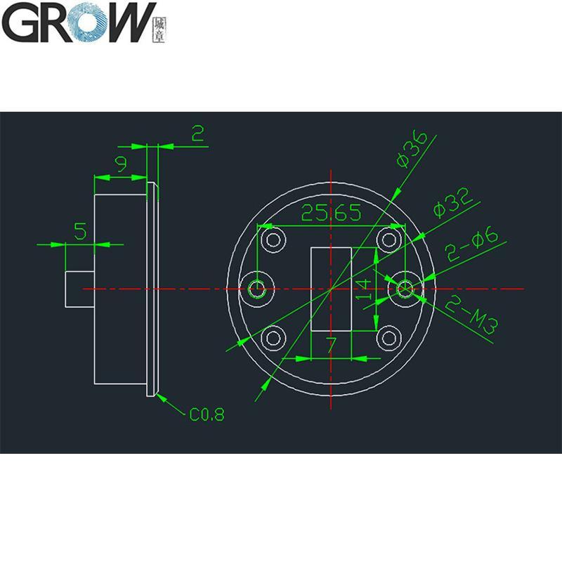 G15 圓形電容指紋抽屜鎖櫃鎖辦公 5
