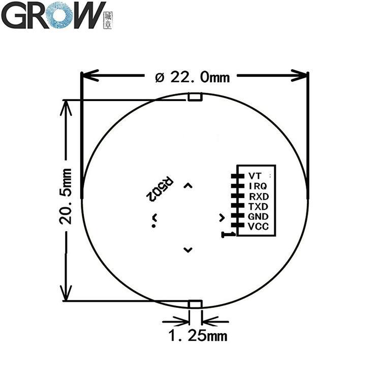 R502 圓形電容指紋模塊 5