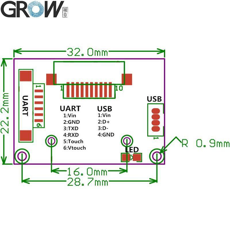 城章 R311 大麵積電容指紋模塊模組 4
