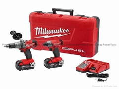 Milwaukee 289722 M18 FUEL Cordless Li Ion 2 Tool Combo Kit  Drill Impact