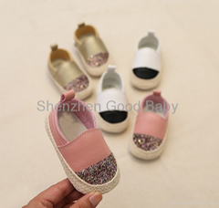 Newest soft leather baby toddler shoes little girl office shoes