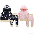 Cheap baby pink salwar suit children pajamas baby night suit 3