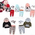 Cheap baby pink salwar suit children pajamas baby night suit 5