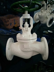 DIN Cast Steel GS-C25 Bellow Seal Globe Valve