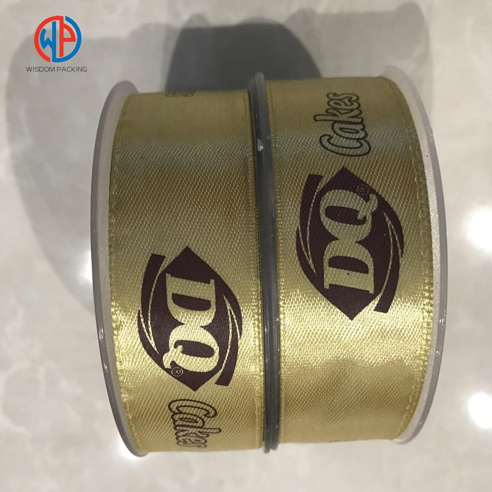 Wholesale custom logo polyester printed satin ribbon 3