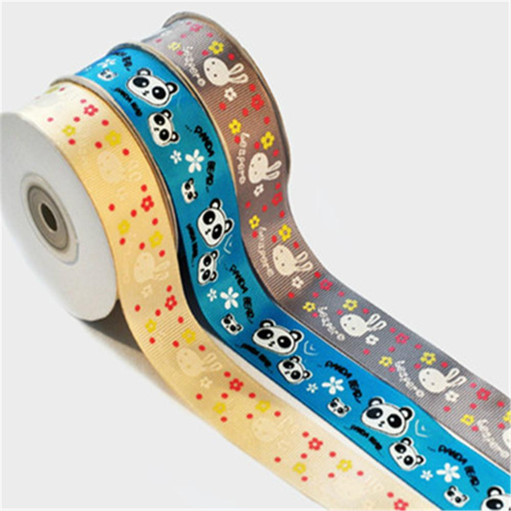 Wholesale 100%polyester custom printed grosgrain ribbon 1
