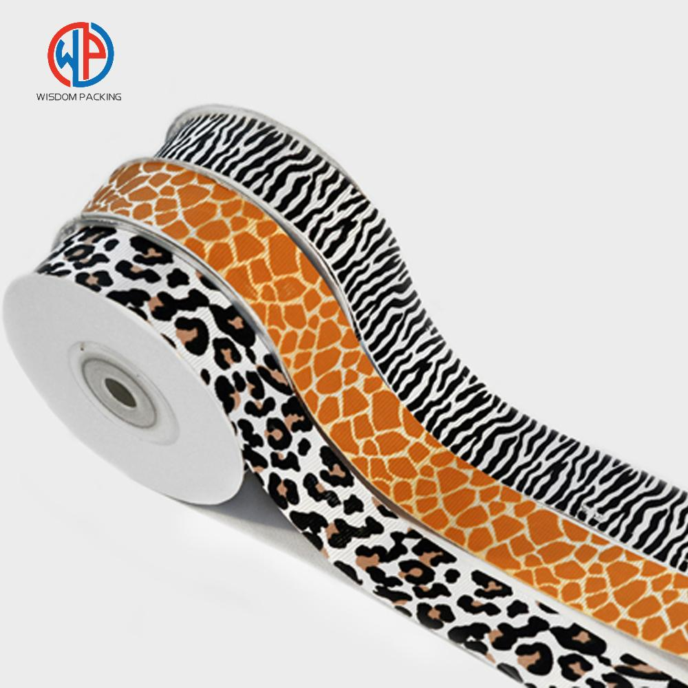 Wholesale 100%polyester custom printed grosgrain ribbon 2