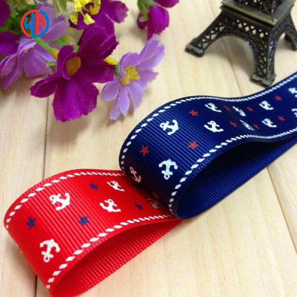 Wholesale 100%polyester custom printed grosgrain ribbon 4